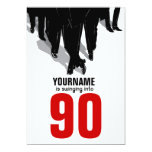 90th Birthday Party Swingers Rat Pack 5x7 Paper Invitation Card