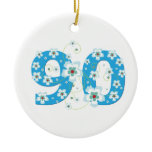 90th birthday personalised name gift ornament