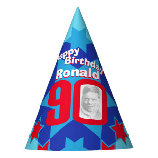 90th birthday personalized photo star name hat