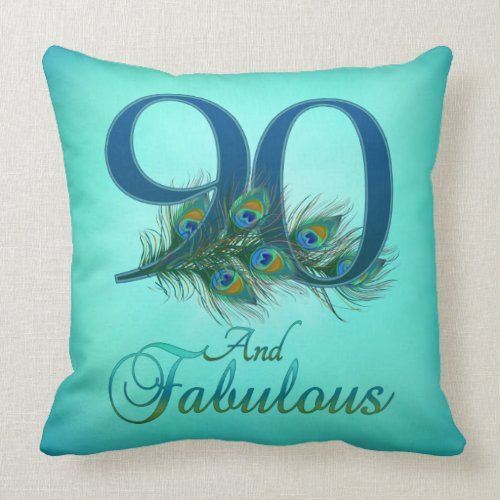 90th & Fabulous Pillow - Choice of Styles