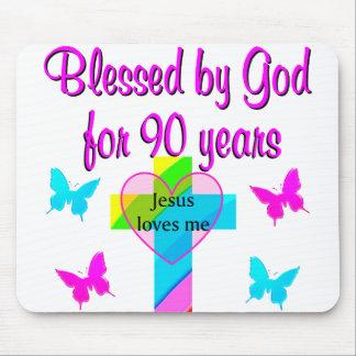 90TH BIRTHDAY PRAYER MOUSE PAD