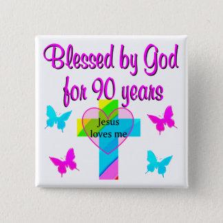 90TH BIRTHDAY PRAYER PINBACK BUTTON