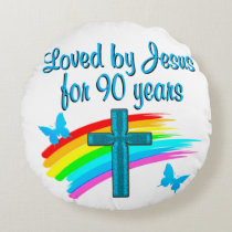 90TH BIRTHDAY PRAYER ROUND PILLOW