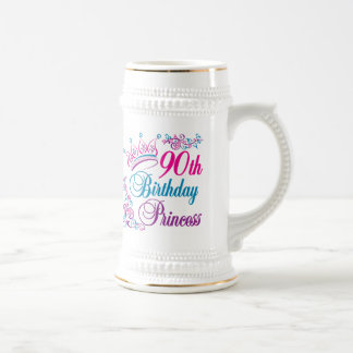 90th Birthday Princess Beer Stein