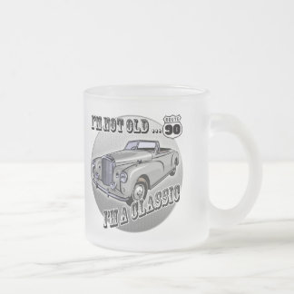 90th Birthday T-shirts and Gifts Frosted Glass Coffee Mug