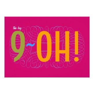 90th Birthday - the Big 9-OH! Custom Invitations