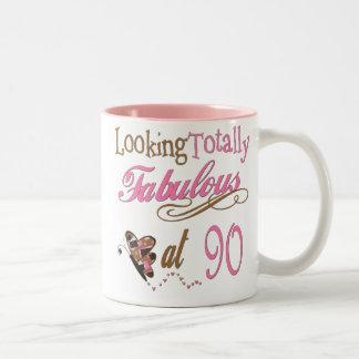 90th Birthday Two-Tone Coffee Mug