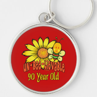 90th Birthday - Unbelievable at 90 Years Old Keychain