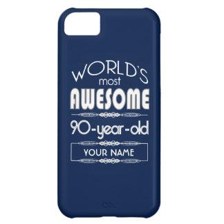 90th Birthday Worlds Best Fabulous Dark Blue Case For iPhone 5C