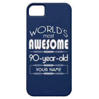 90th Birthday Worlds Best Fabulous Dark Blue iPhone 5 Covers