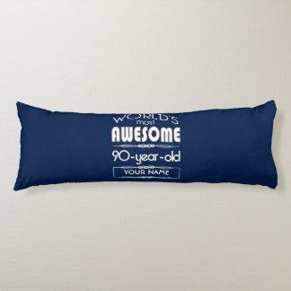 90th Birthday Worlds Best Fabulous Dark Blue Body Pillow