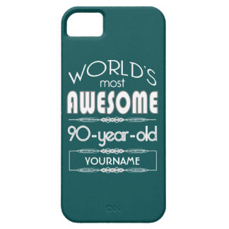 90th Birthday Worlds Best Fabulous Dark Green Fore iPhone 5 Cases