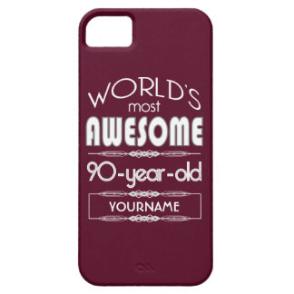 90th Birthday Worlds Best Fabulous Dark Red iPhone 5 Case