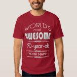 90th Birthday Worlds Best Fabulous Dark Red Maroon T-shirt