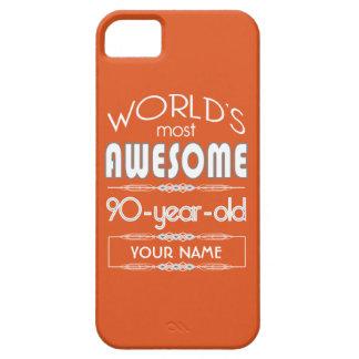 90th Birthday Worlds Best Fabulous Flame Orange iPhone 5 Case