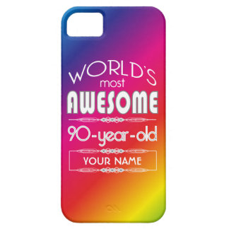 90th Birthday Worlds Best Fabulous Rainbow iPhone 5 Cover