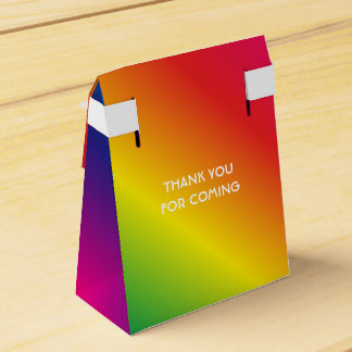 90th Birthday Worlds Best Fabulous Rainbow Favor Box