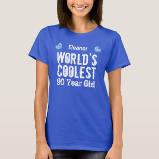 90th Birthday World's Coolest 90 Year Old H90C1 T-Shirt