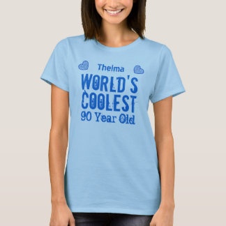 90th Birthday World's Coolest 90 Year Old H90C3 T-Shirt