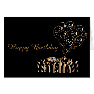 90th Black Balloons Birthday | Diy Words Card