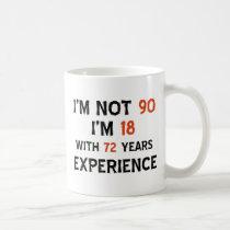 90th cool birthday designs coffee mug