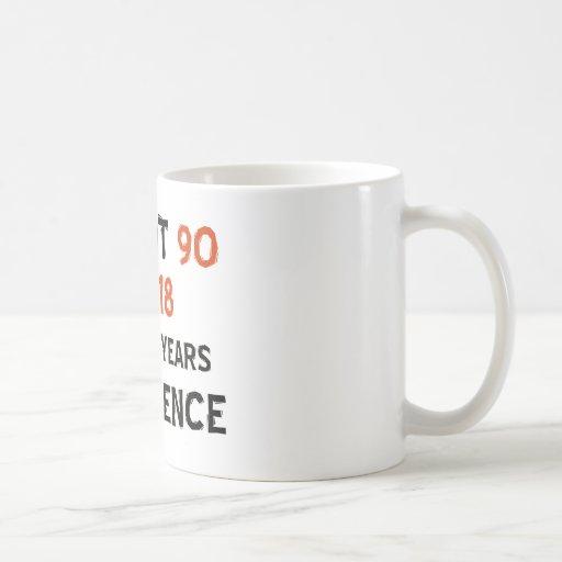90th cool birthday designs mugs