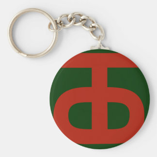 90th Infantry Division Keychain