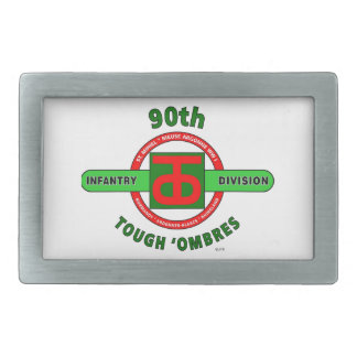 "90TH INFANTRY DIVISION ""TOUGH 'OMBRES"" DIVISION BELT BUCKLES"