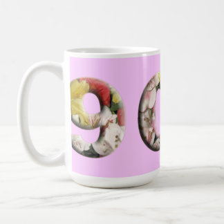 90th Milestone Mug Customizable Floral Design