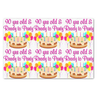 90TH PARTY GIRL TISSUE PAPER
