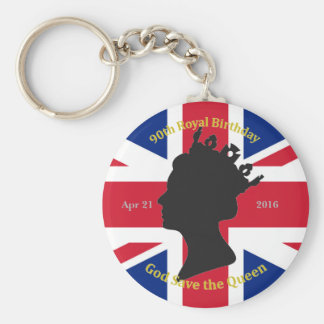 90th Royal Birthday Keychain