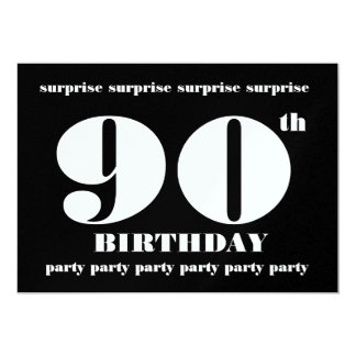90th SURPRISE Birthday Party Invitation Template