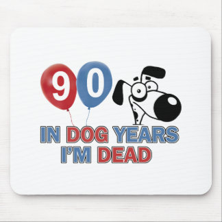 90th year birthday designs mouse pad