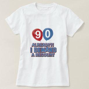 90th Year Birthday Designs T Shirt