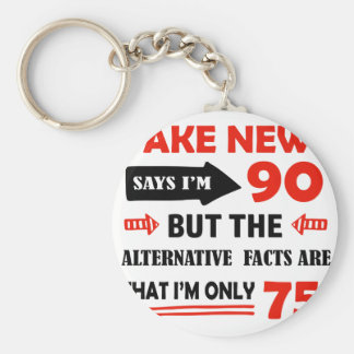 90th year old birthday gifts keychain