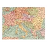 910 líneas de comunicación, Europa Central Tarjeta Postal