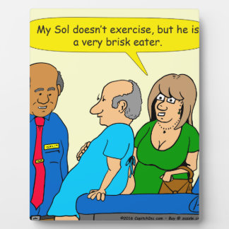 910 very brisk eater cartoon plaque