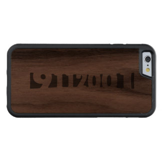 9112001 CARVED® WALNUT iPhone 6 BUMPER CASE