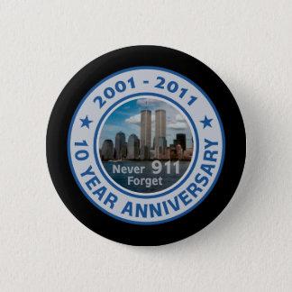 911 10 Year Anniversary Button