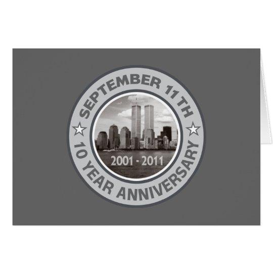 911 10 Year Anniversary Card