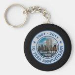 911 10 Year Anniversary Key Chain
