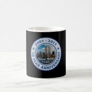 911 10 Year Anniversary Classic White Coffee Mug