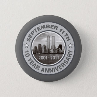 911 10 Year Anniversary Pinback Button