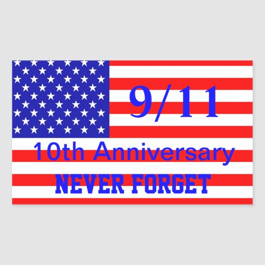911 10th Anniversary Patriotic Stickers
