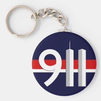 911 - 11 de septiembre de 10 aniversario del th llavero personalizado