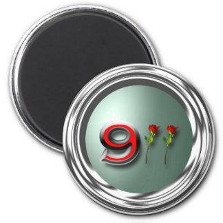 911 2 INCH ROUND MAGNET
