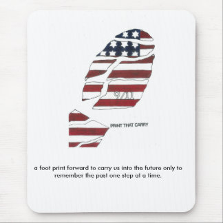 911 a foot print forward to carry us into ... mouse pad