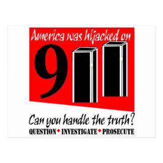 911 America Hijacked Cards Postcard