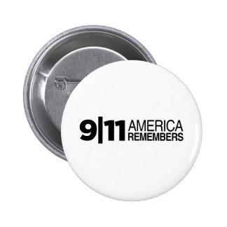 911 América recuerda Pin Redondo De 2 Pulgadas