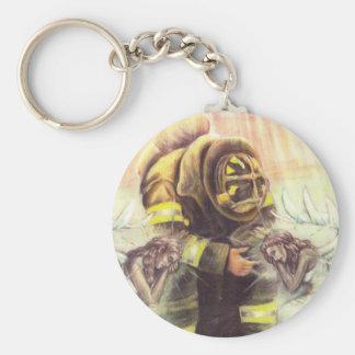 911 ángeles del bombero llavero redondo tipo pin